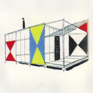 Chermayeff Serge cape cod modernism drawing