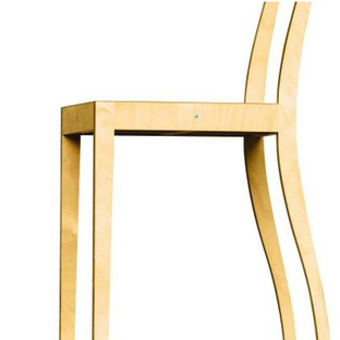 Plywood Side Chair, 1988, by Jaspar Morrison. Image courtesy Hans Hansen and Vitra.