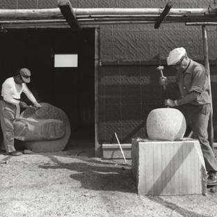 Exhibition of modern sculptor Isamu Noguchi