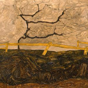 Tree behind a Fence 1912