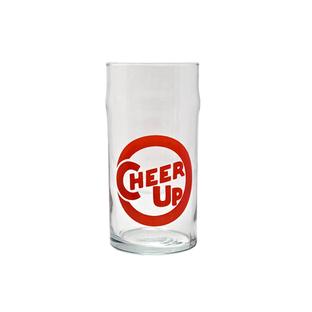 cheer up glass tumbler