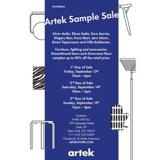 artek sample sale