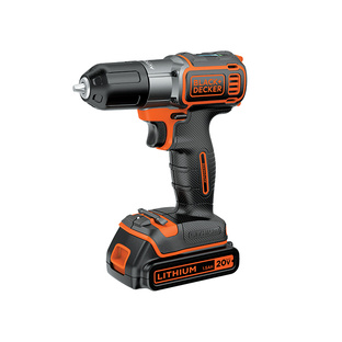 Black + Decker cordless drill with auto sense technology