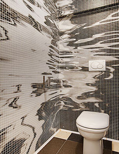 Digitally rendered mosaics on resin tile by Mosaico Digitale