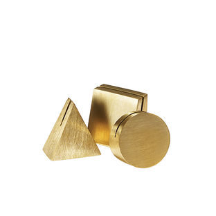 Modern Made in the USA America products like the Geo Brass photo stands by Yield Design from Florida