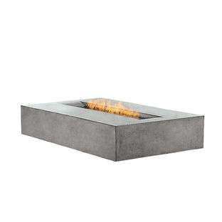 Essential outdoor products like the fiber-cement Flo fireplace by Brown Jordan Fires