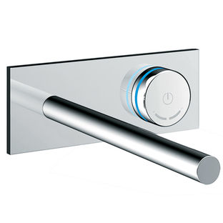 modern smart bathroom appliances like electronica thermostatic tubl filler by blu bathworks