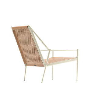 Acciaio lounge by Max Lipsey for Cappellini in perforated leather