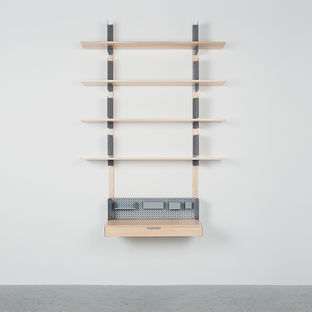 HSI shelving by henry julier for matter-made crafted from steel and maple