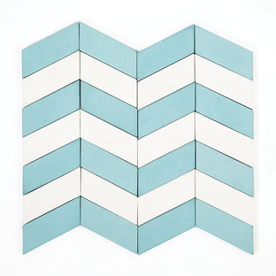 long chevron waves tile by marcos cajina and melanie stephens for granada tile made of cement