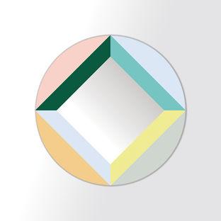 round square mirror by clara von zweiburgk for domestic