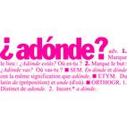Adonde