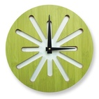 Splat Green Bamboo Modern Wall Clock