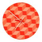 Pink Block Clock
