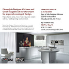 Best of Italy Designer Kitchens Showroom Event