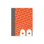 Red Brick Print