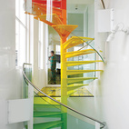 Modern London House with Rainbow Spiral Staircase