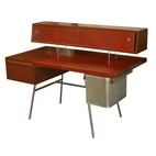 Leather-and-Metal Desk