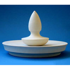 Flat Spear Porcelain Mortar and Pestle