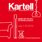 30% at Kartell Through July 18