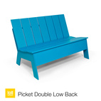Picket Double Low Back Bench