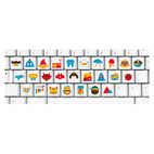 Picture Keyboard Alphabet Stickers