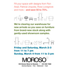Moroso 2012 Warehouse Sale