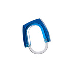 Blue Concentrate Shower Curtain Ring