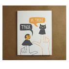 Trick-or-Treat Letterpress Card