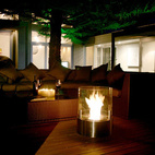 Cyl Outdoor Fireplace