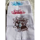 Vintage Diagram Flour Sack Towels