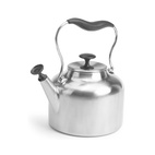 Brushed Stainless Steel Tea Pot