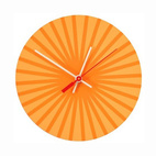 Orange Burst Clock