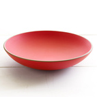 Suede Red Shallow Salad Bowl