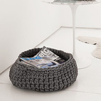 Crocheted Rubber Basket