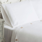 Solid White Sateen Duvet