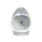 Dada Pressed Glass Clock