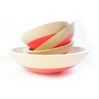 Neon Wooden Bowls