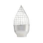 Silver Grid Vase