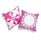 World in Pink Pillows