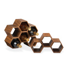 modular wooden  wine rack