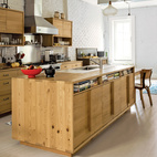 A Storage-Saving Salvaged Wood Kitchen in Brooklyn