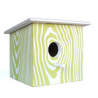 Screenprinted Birdhouses by Todd Hubler