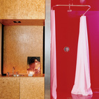 A Magenta-Accented Sustainable Bathroom in Phoenix