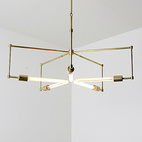 Brass Lighting by Raymond Barberousse