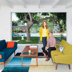 Modern and Young: A Furniture-Filled Living Room in Los Feliz