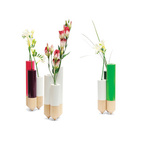5 Modern Vases in Metal, Glass, and Wood