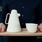 Product of the Day: Ceramic and Wood Coffee Set by Luca Nichetto