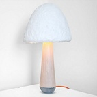 A Green Table Lamp Grown from Mushrooms