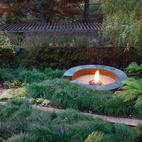 Simple, Concrete-and-Steel Fire Pit in Oakland
